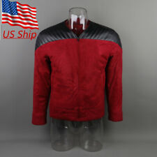 Star Trek The Next Generation Captain Picard Duty Uniform Jacket TNG Red Costume