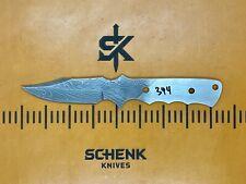 Tactical Stalker Damascus High Carbon Steel Knife Blade Blank Billet 344