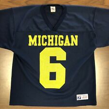 Vintage Michigan Football Jersey Logo 7 Tag Mens Large Excellent Condition