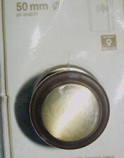Türknopf messing  brüniert mit Rosette 50 mm feststehend