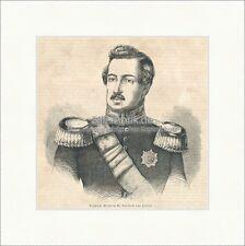 Friedrich Wilhelm II. Kurfürst Hessen Landgraf Kassel Hanau Holzstich E 20770