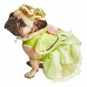 NWT DISNEY TINKER BELL PET DOG COSTUME W/ WIG