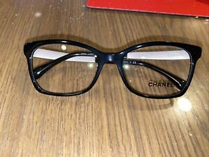 Chanel 3332 501 Eyeglasses Authentic Black Frame 52-17 NO CASE