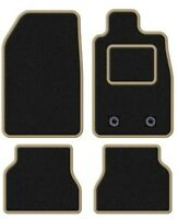 VW EOS 2006-2014 TAILORED BLACK CAR MATS WITH BEIGE TRIM