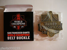 SAN FRANCISCO SF GIANTS 2014 WORLD CHAMPIONS BELT BUCKLE SGA 9/16/2015