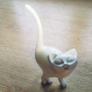 Ceramic cat interior decoration color white