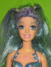 BARBIE FAIRYTOPIA MERMAIDIA NORI -Color Change Blue & Lavender Hair-2005 -Loose