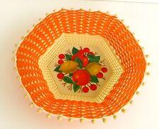 Ancienne coupe à fruits en plastique orange des années 70 - Made in Greece -