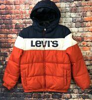 LEVIS STRAUSS & CO. Boys Puffer Winter Jacket w/Hood Coat YOUTH 12-13 YRS Stripe