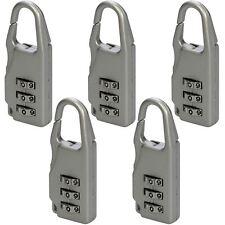 5pc Silverline 646204 20mm 3-Digit Combinazione Mini Lucchetto Bagaglio Viaggio