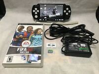 Sony PSP 3000 Black & White System with 1 game & Memory Card Bundle