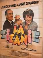 XXL Filmplakat,LA ZIZANIE, LOUIS DE FUNES,ANNIE GIRARDOT