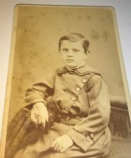 Antique Victorian American Young Dapper Little Boy Oberlin, Ohio CDV Photo! Cute