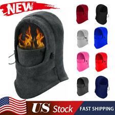 Windproof Full Face Mask Men Winter Fleece Neck Warm Ski Mask Balaclava Hood Cap