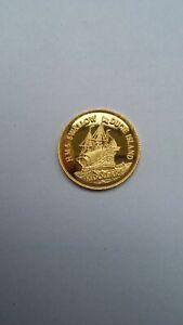 "1/25 oz 999er Gold Pitcairn Island 1999 ""HMS SWALLOW"""