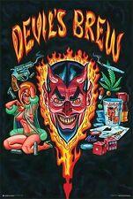 DEVIL'S BREW - WEED POSTER - 24x36 MARIJUANA SMOKING POT LEAF 11025