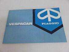 NOS OEM Piaggio Vespa Car Vespacar Manual