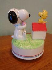 Snoopy Ceramic Aviva Music Box - 1982