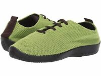 Arcopedico Women's LS Knit Lace-Up Lightweight Vegan Shoes - Citron