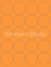 """6 SHEETS 2"""" ROUND BLANK FLUORESCENT ORANGE STICKERS LABELS PERSONALIZE HALLOWEEN"""