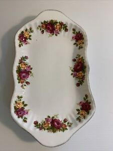 'Cottage Rose' ~ Rectangular Floral Dish Plate~ Fine Bone China ~ Made in Taiwan
