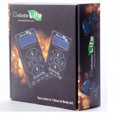 Pro Getbetterlife Black Pro Digital Dual LCD Tattoo Power Supply Set Kit