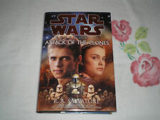 STAR WARS, ATTACK OF THE CLONES by R. A. SALVATORE    *Signed*