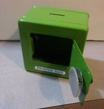 Frontier Lime Green Toy Safe w/ Combination Lock - Metal Coin Bank - Nice!