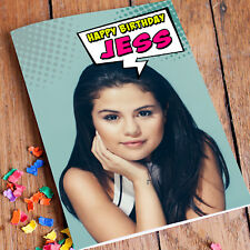SELENA GOMEZ Personalised Birthday Card! FAST Shipping! Premium quality.