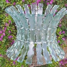 Lampadario zeroquattro 04 fontana arte 1960 vetro scalpellato vintage