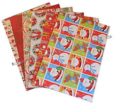 Noël papier cadeau - 12 feuilles en pack, design 6, présente papier cadeau