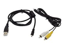 USB Data+A/V TV Cable Cord For Samsung Camera S860 S1070 S1060 S1050 GX 1 s GX1L