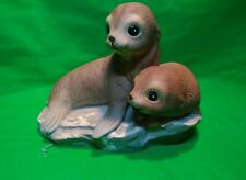 Adorable Seal Babies - Vintage Porcelain Figurine from Masterpiece by Homco