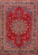 Vintage Floral Ardakan Hand-Made Area Rug 7x10 Wool Living Room Oriental Carpet
