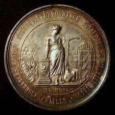 Chaumont Porcien, Feuer 1866, große Silbermedaille für Feuerwehrleute, RRR!