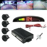 Black LED Display Car 4 Parking Sensor Reverse Backup  Alarm System Kit