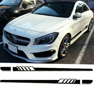 Car Side Skirt Racing Stripes Vinyl Body Decal Sticker For Mercedes C Class W205