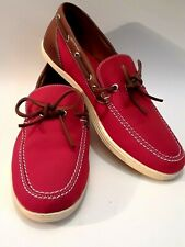 Martin Dingman Henderson Casual Boat Deck Shoes Loafers - Red Mens Size 9 M