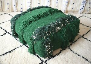 Cotton Home Floor Cushion Moroccan Handmade Pouf Ottoman Footstool Yoga