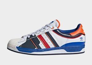 Adidas Chaussures Homme Superstar 50 - White, Bleu & Écarlate - FW8153