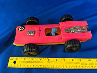 Rare 70s Hong Kong Hard Plastic Reversible FLIP Race Car #5 VTG Toy HS 1068
