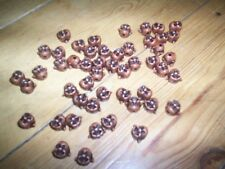 50 ugly face beads for necklace bracelet crafts etc bronze NEW
