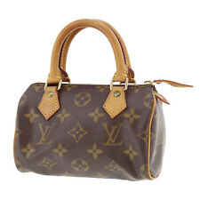 Louis Vuitton Mini Speedy Hand Bag Monogram Leather M41534 Vintage Auth #SS5 S