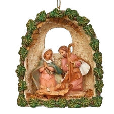 New for 2019 Fontanini 3.63 Inch tall Holy Family Grotto Ornament 56386
