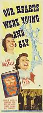 OUR HEARTS WERE YOUNG AND GAY Movie POSTER 14x36 Insert