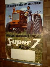 Affiche Ancienne Tracteur RENAULT  SUPER 7 42 CV poster tractor traktor trattore