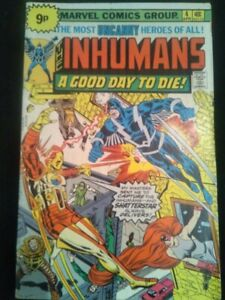 THE INHUMANS a good day to die! Vol. 1 no 4 April 1976 MARVEL USA