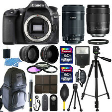 Canon EOS 80D SLR Camera + 18-135mm USM + 55-250mm STM 4 Lens 32GB Valued Kit