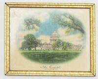 Vintage Washington DC Print The Capitol Framed