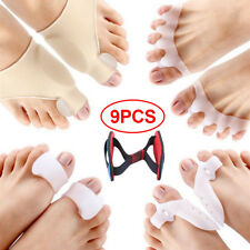 9PCS Bunion Corrector Protector Sleeves Kit Toe Separator Spacer Pain Relief NEW